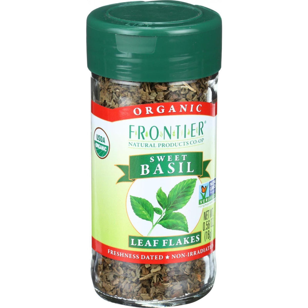 Frontier Herb Basil Leaf - Organic - Sweet - Cut And Sifted - .56 Oz