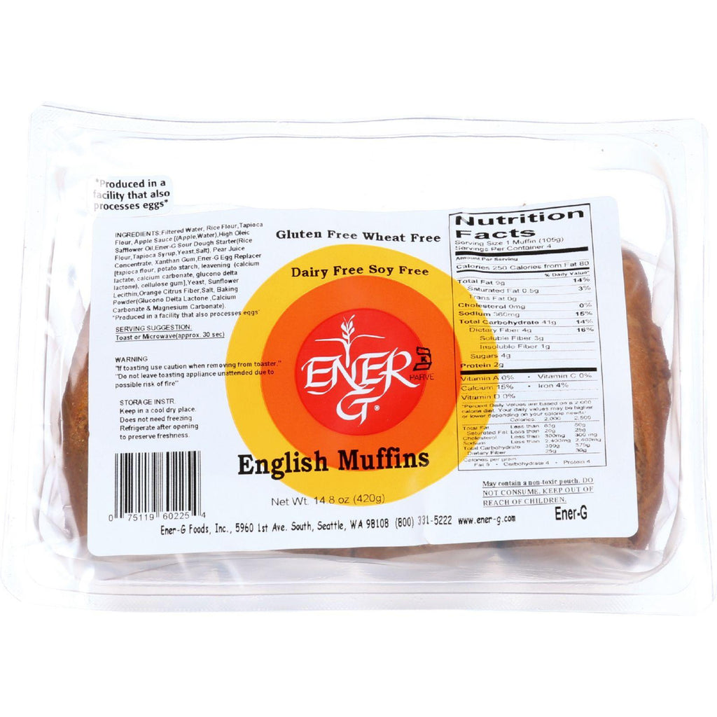 Ener-g Foods English Muffins - 14.8 Oz - Case Of 6
