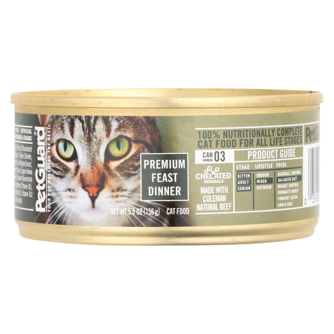 Petguard Cats Premium Feast Dinner - Case Of 24 - 5.5 Oz.