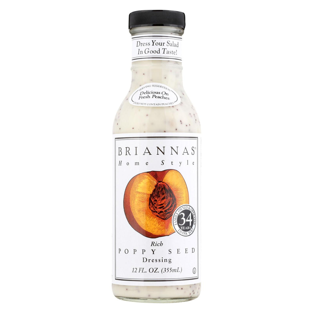 Brianna's Salad Dressing - Poppy Seed - Case Of 6 - 12 Fl Oz.