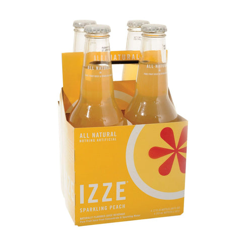 Izze Sparkling Juice - Peach - Case Of 6 - 12 Fl Oz.