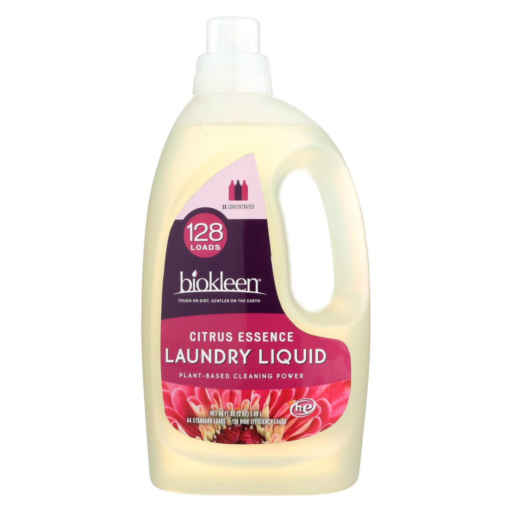Biokleen Laundry Detergent - Citrus - Case Of 6 - 64 Fl Oz.