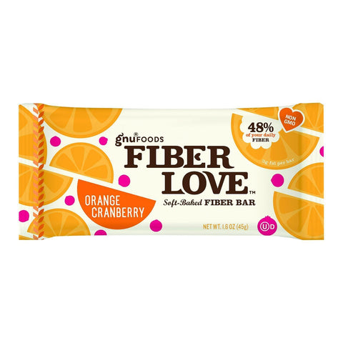 Nugo Nutrition Bar - Fiber Dlish - Orange Cranberry - 1.6 Oz Bars - Case Of 16