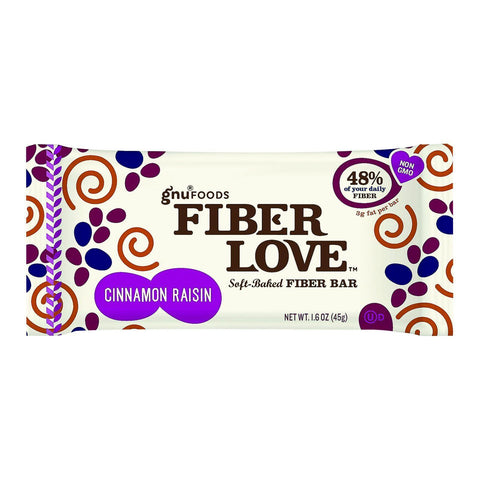Nugo Nutrition Bar - Fiber Dlish - Cinnamon Raisin - 1.6 Oz Bars - Case Of 16