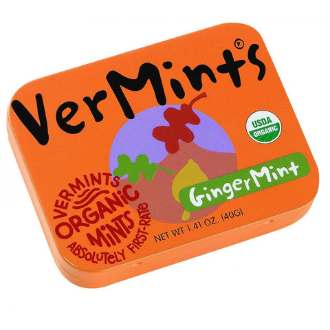 Vermints Breath Mints - All Natural - Gingermint - 1.41 Oz - Case Of 6