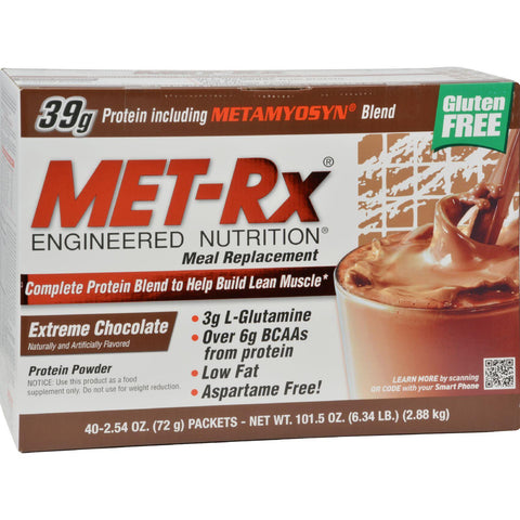 Met-rx Engineered Nutrition Meal Replacement Extreme Chocolate - 40 Packets