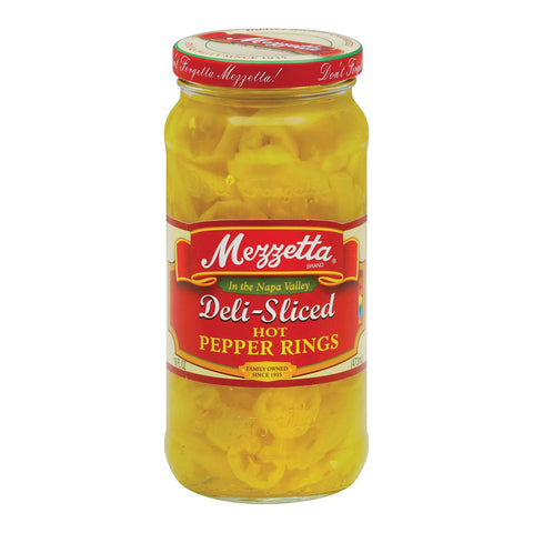 Mezzetta Deli Sliced Hot Pepper Rings - Case Of 6 - 16 Oz.