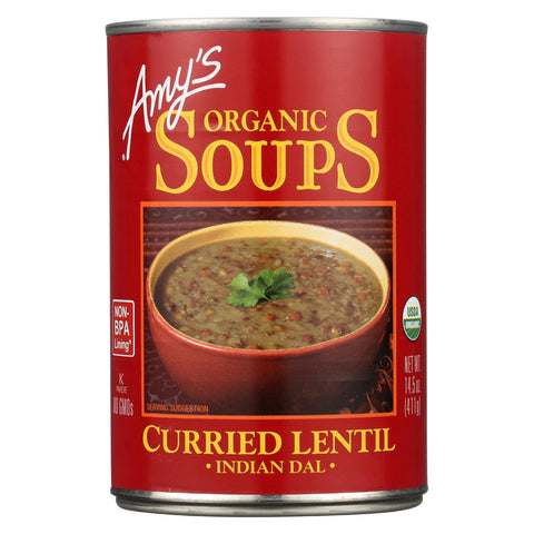 Amy's Curried Lentil Soup -made With Organic Ingredients - Case Of 12 - 14.5 Oz