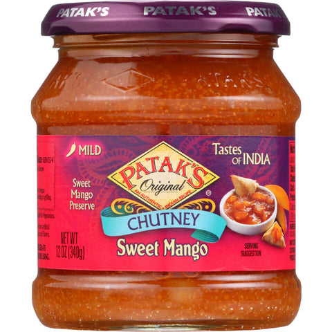 Pataks Chutney - Sweet Mango - Mild - 12 Oz - Case Of 6