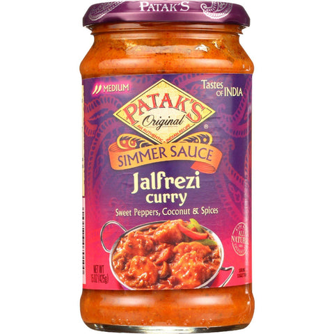 Pataks Simmer Sauce - Jalfrezi Curry - Medium - 15 Oz - Case Of 6