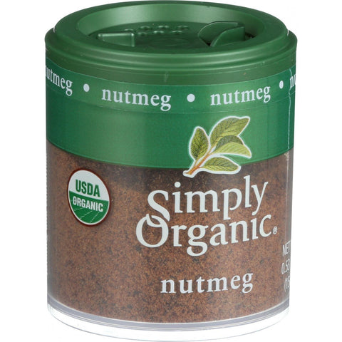 Simply Organic Nutmeg - Organic - Ground - .53 Oz - Case Of 6