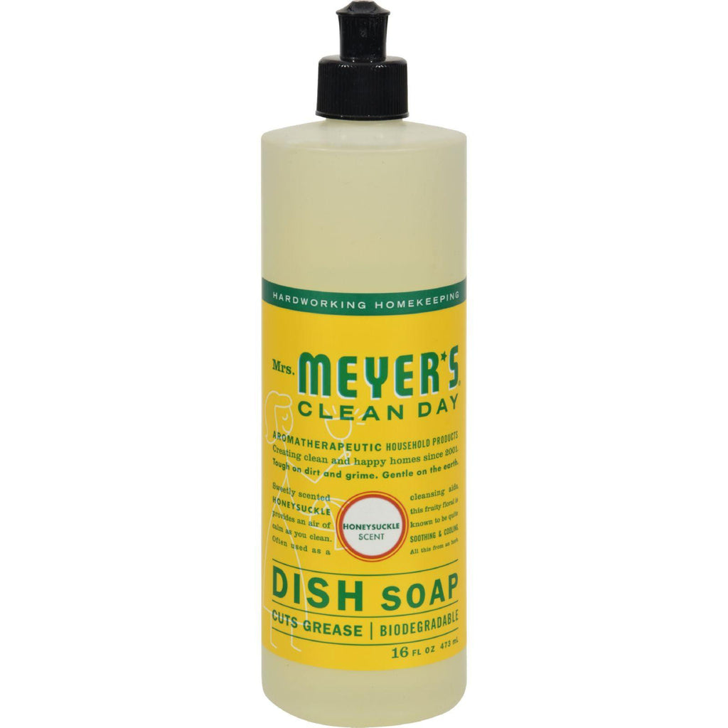 Mrs. Meyer's Liquid Dish Soap - Honeysuckle - Case Of 6 - 16 Oz
