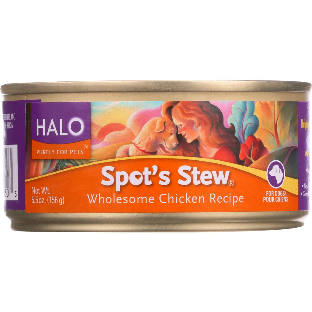 Halo Purely For Pets Dog Food - Spots Stew - Wholesome Chicken - 5.5 Oz - Case Of 12
