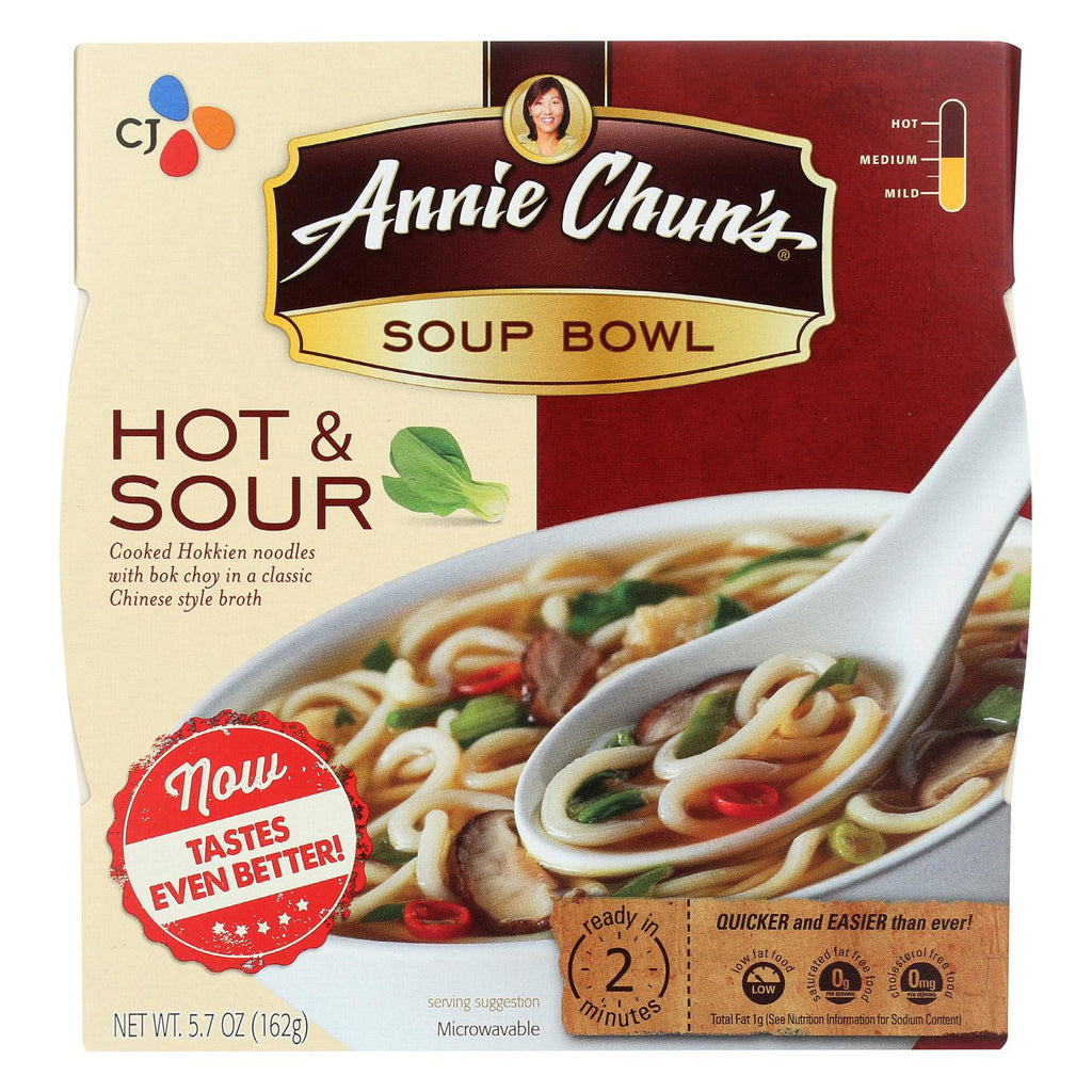 Annie Chun's Hot And Sour Soup Bowl - Case Of 6 - 5.7 Oz.