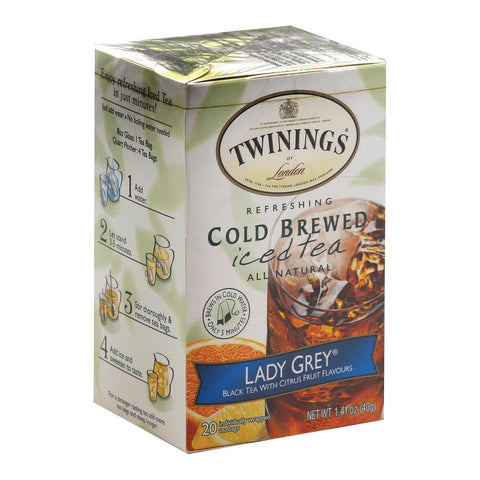 Twining's Tea Cold Brewed Iced Tea - Citrus Twist - Case Of 6 - 20 Bags