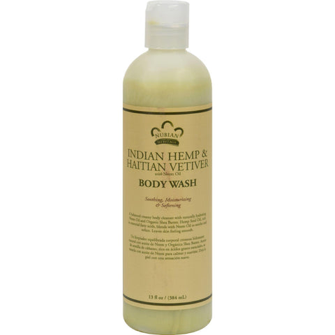 Nubian Heritage Body Wash Indian Hemp And Haitian Vetiver - 13 Fl Oz