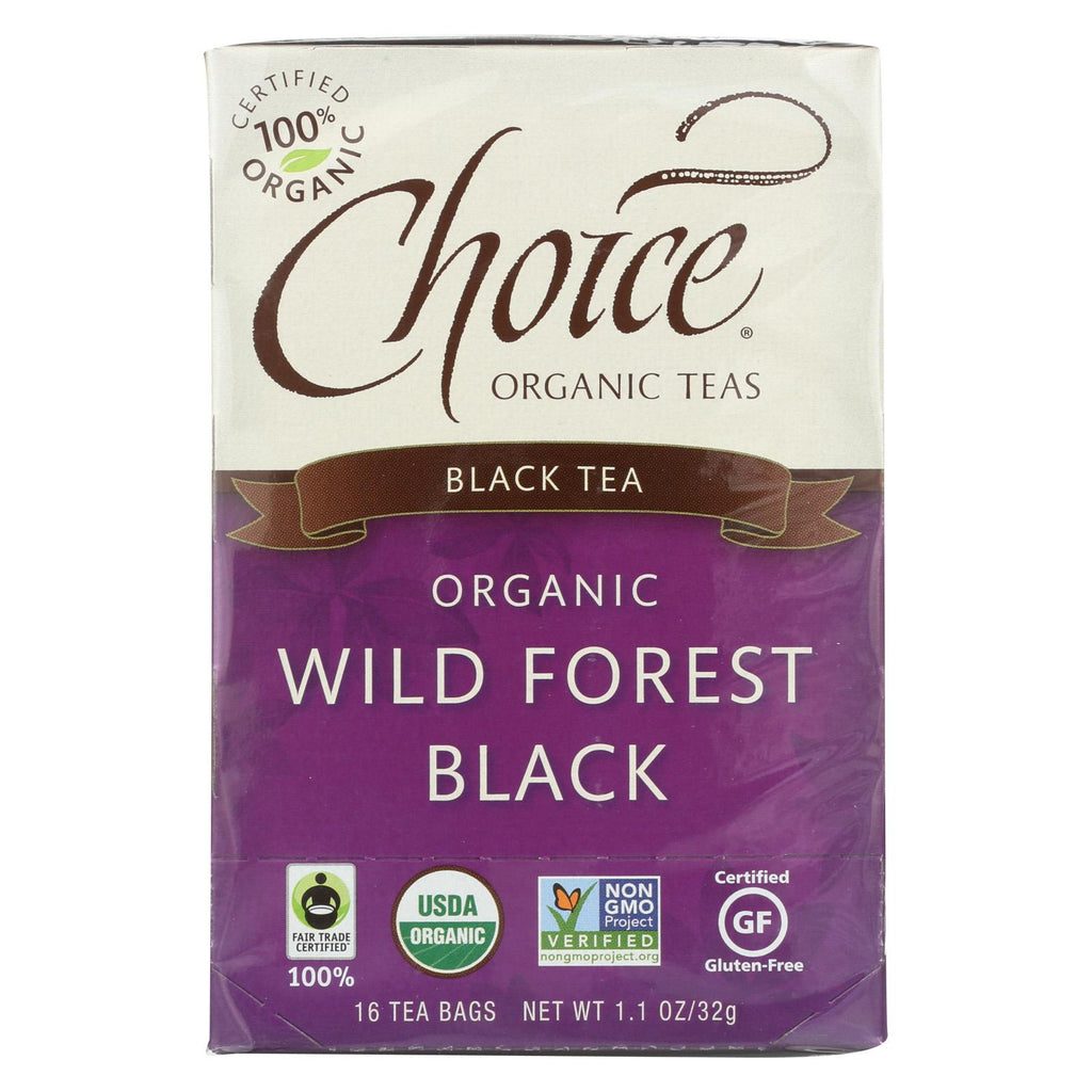 Choice Organic Black Tea - Wild Forest Black - Case Of 6 - 16 Bags