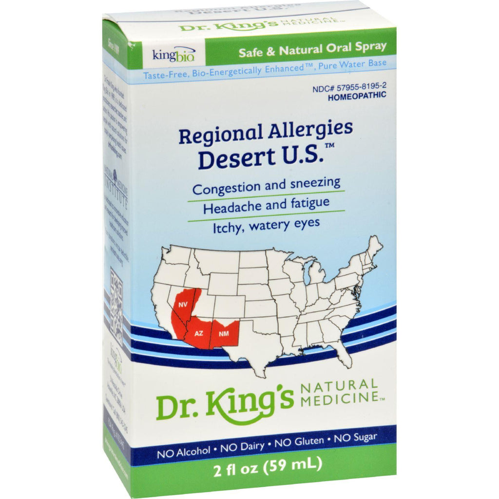 King Bio Homeopathic Regional Allergy - Desert - 2 Oz