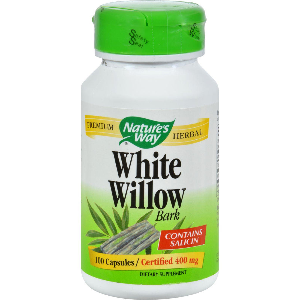 Nature's Way White Willow Bark - 400 Mg - 100 Capsules