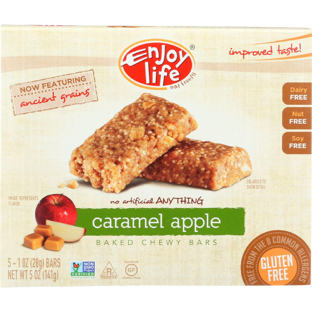 Enjoy Life Snack Bar - Caramel Apple - Gluten Free - 5 Oz - Case Of 6