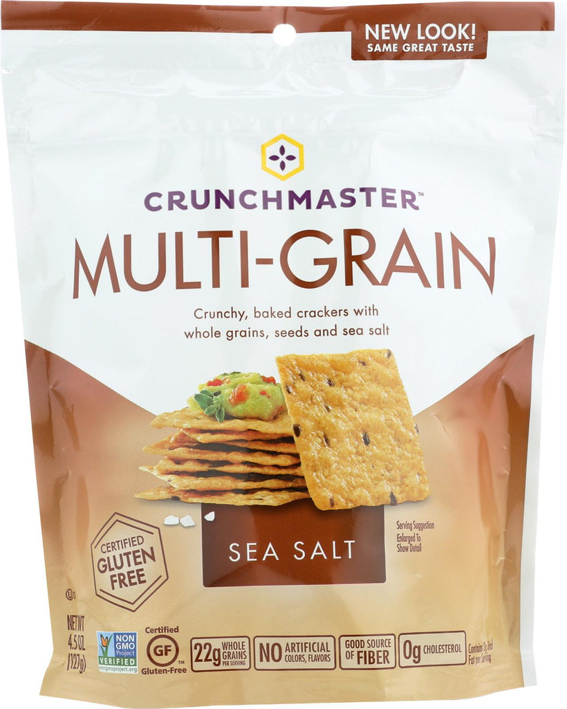 Crunchmaster Multi-grain Crackers - Sea Salt - Case Of 12 - 4.5 Oz.