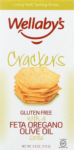 Wellaby's Crackers - Feta Oregano Olive Oil - Case Of 6 - 3.9 Oz.