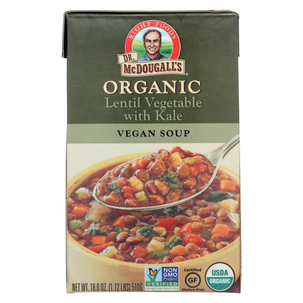 Dr. Mcdougall's Organic Lentil Vegetable Soup - Case Of 6 - 18 Oz.