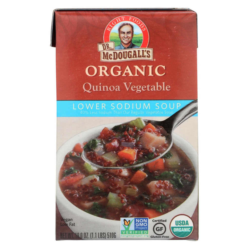 Dr. Mcdougall's Organic Quinoa Vegetable Lower Sodium Soup - Case Of 6 - 18 Oz.