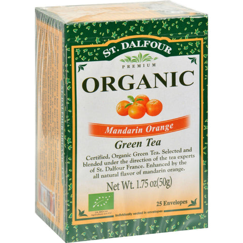 St Dalfour Organic Green Tea - Mandarin Orange - 25 Tea Bags