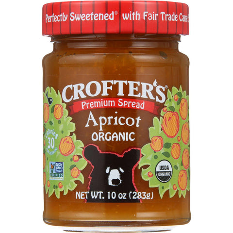 Crofters Fruit Spread - Organic - Premium - Apricot - 10 Oz - Case Of 6