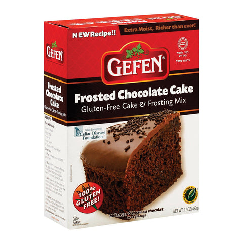 Gefen Gluten Free Chocolate Cake Mix With Frost - Case Of 12 - 17 Oz