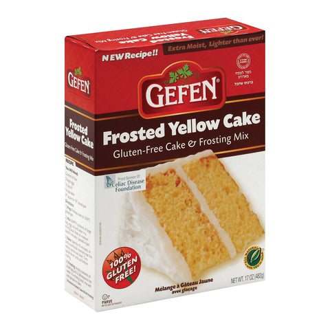 Gefen Yellow Cake - Frosting Mix - Case Of 12 - 17 Oz.