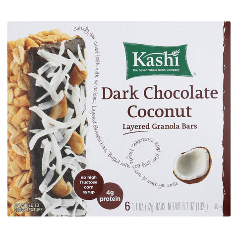 Kashi Dark Chocolate Coconut Bar - Case Of 12 - 6.7 Oz.