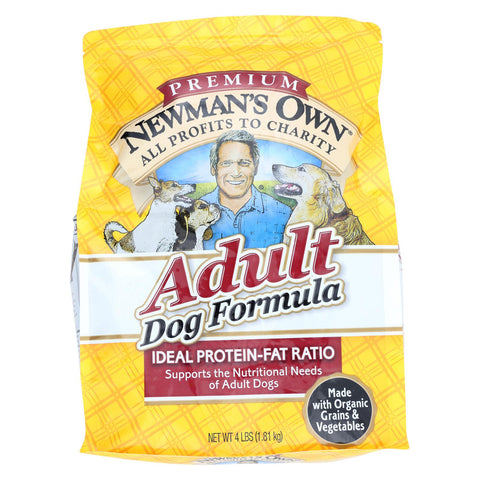 Newman's Own Organics Dog Dry Formula - Premium Adult - Case Of 6 - 4