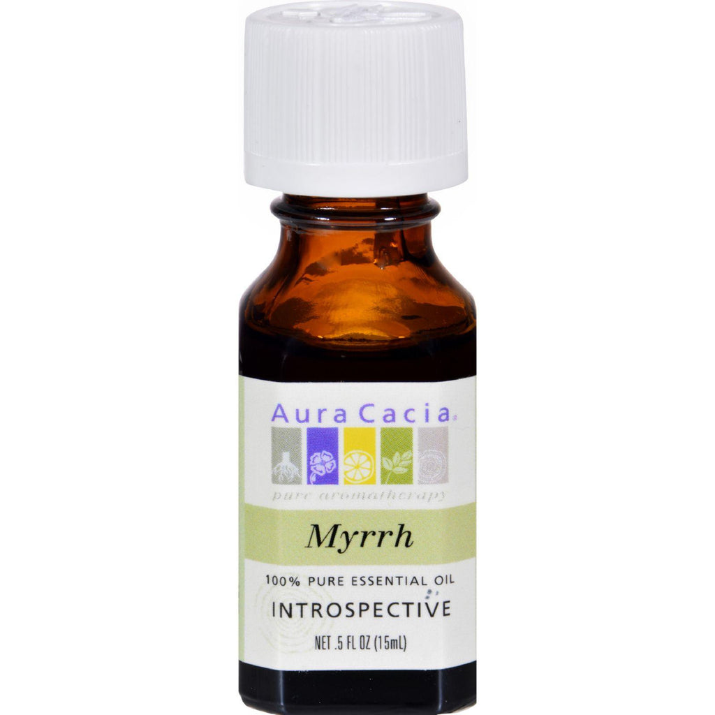 Aura Cacia Pure Essential Oil Myrrh - 0.5 Fl Oz