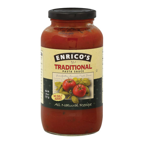 Enrico's Traditional Pasta Sauce - Case Of 12 - 26 Fl Oz.