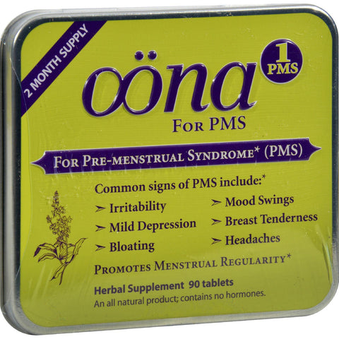 Oona Pms1 - Case Of 5 - 90 Tablets