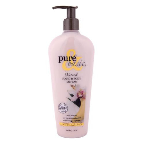 Pure And Basic Natural Hand And Body Lotion Wild Banana Vanilla - 12 Fl Oz