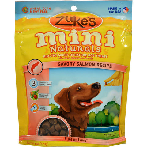 Zuke's Mini Naturals Dog Treats Salmon - 6 Oz