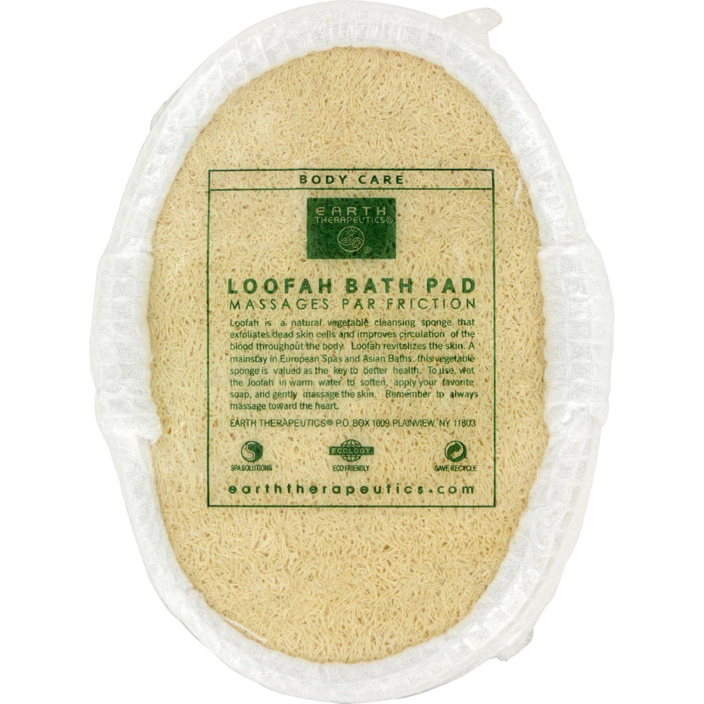 Earth Therapeutics Loofah Bath Pad - 1 Pad
