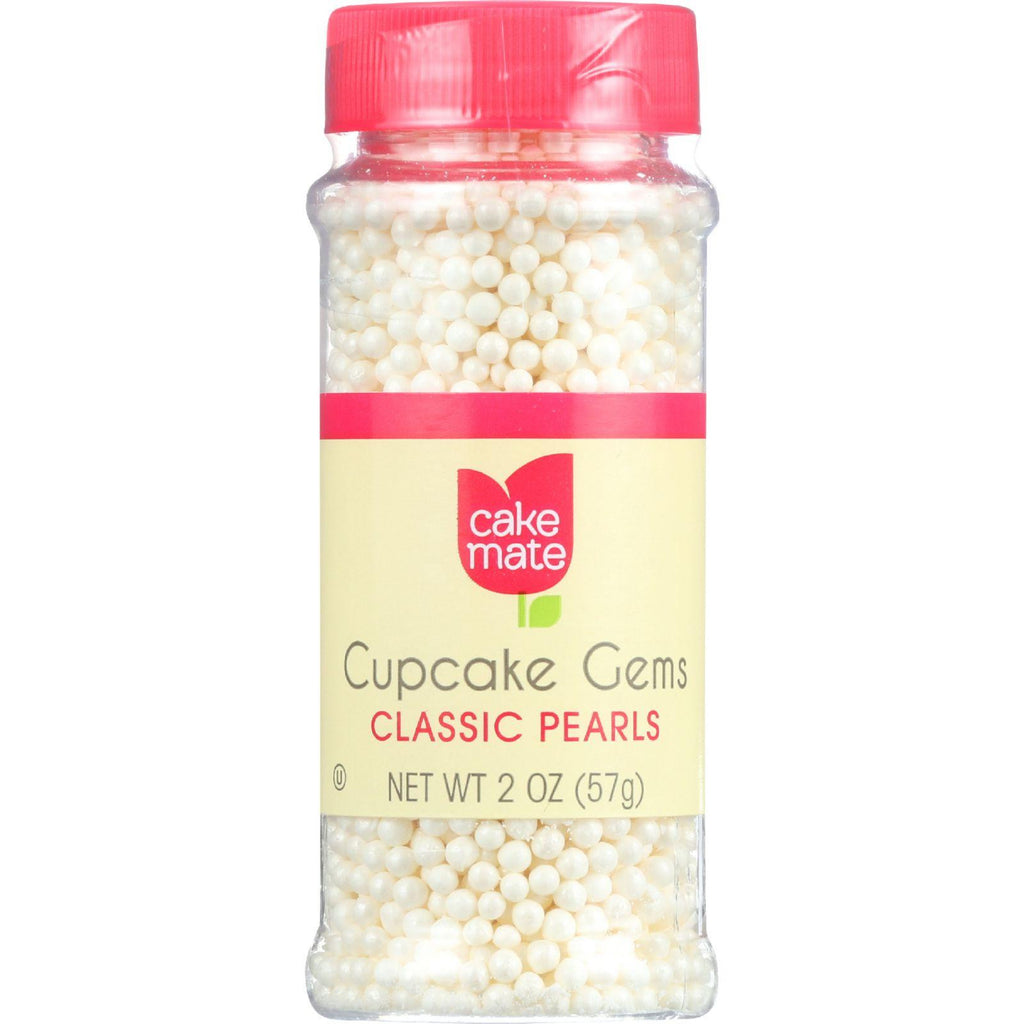 Cake Mate Cake Decor - Cupcake Gems - Perfect Pearls - 2 Oz - Case Of 6