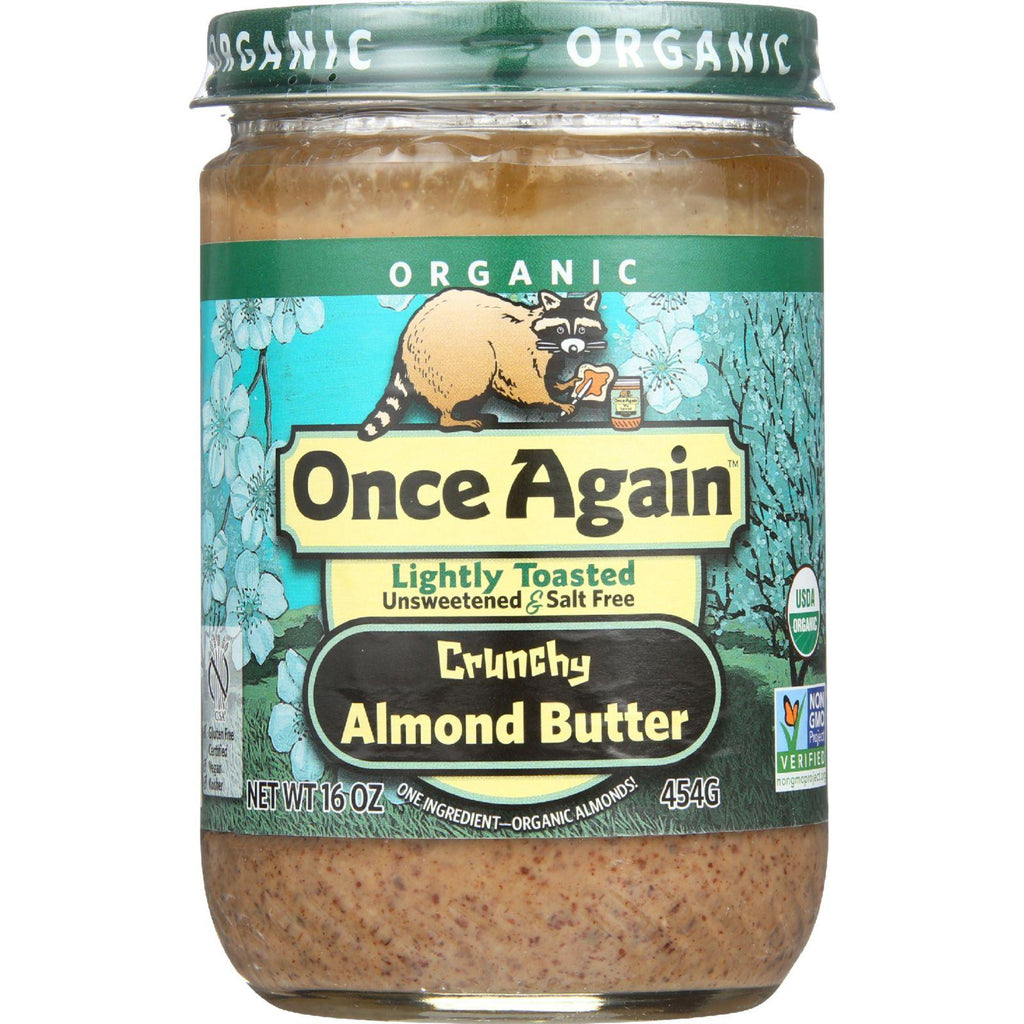 Once Again Almond Butter - Organic - Lightly Toasted - Crunchy - 16 Oz - Case Of 12