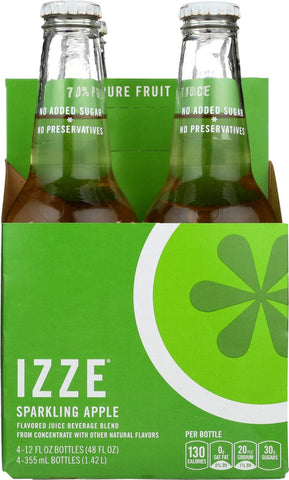 Izze Sparkling Juice - Apple - Case Of 6 - 12 Fl Oz.