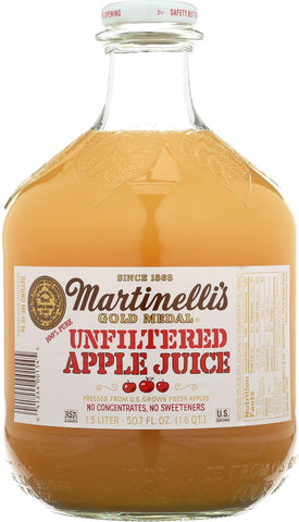 Martinelli's Unfiltered Apple Juice - Case Of 6 - 50.7 Fl Oz.