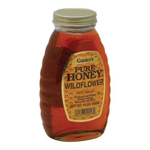 Gunter Pure Wildflower Honey - Case Of 12 - 16 Oz.