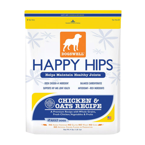 Dogs Well Happy Hips Chicken And Oats Dog Food - Case Of 6 - 4 Lb.