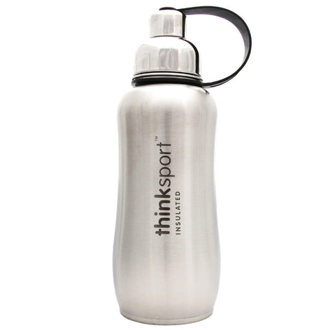 Thinksport Stainless Steel Sports Bottle - Silver - 25 Oz