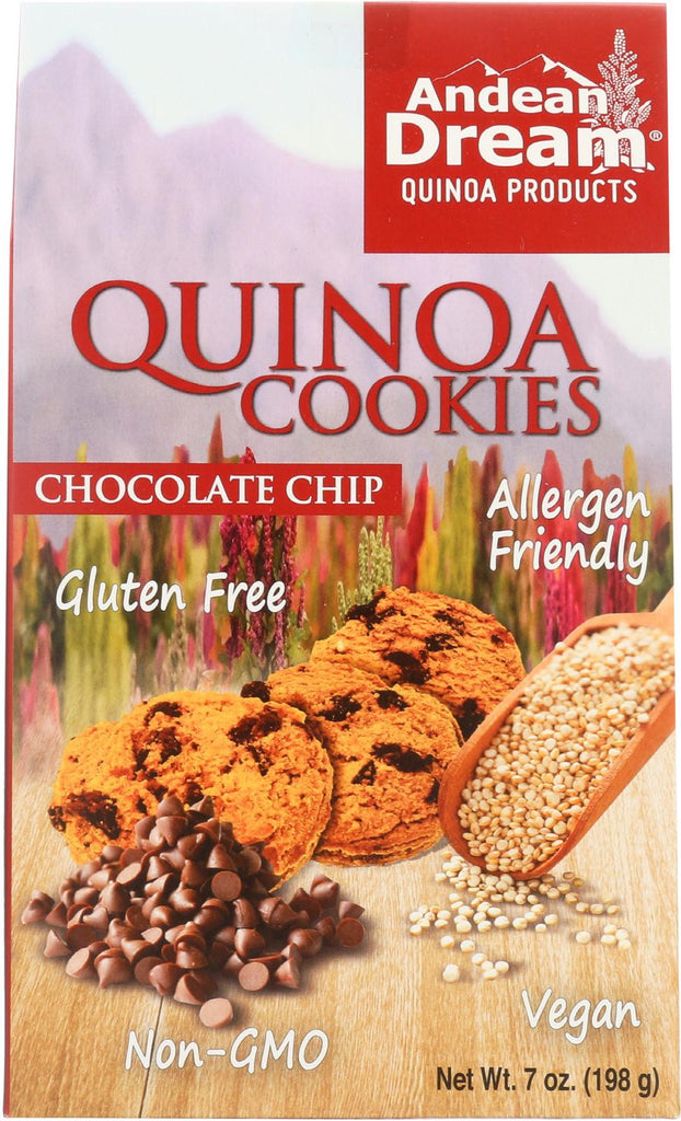 Andean Dream Gluten Free Quinoa Cookies Chocolate Chip - Case Of 6 - 7 Oz.