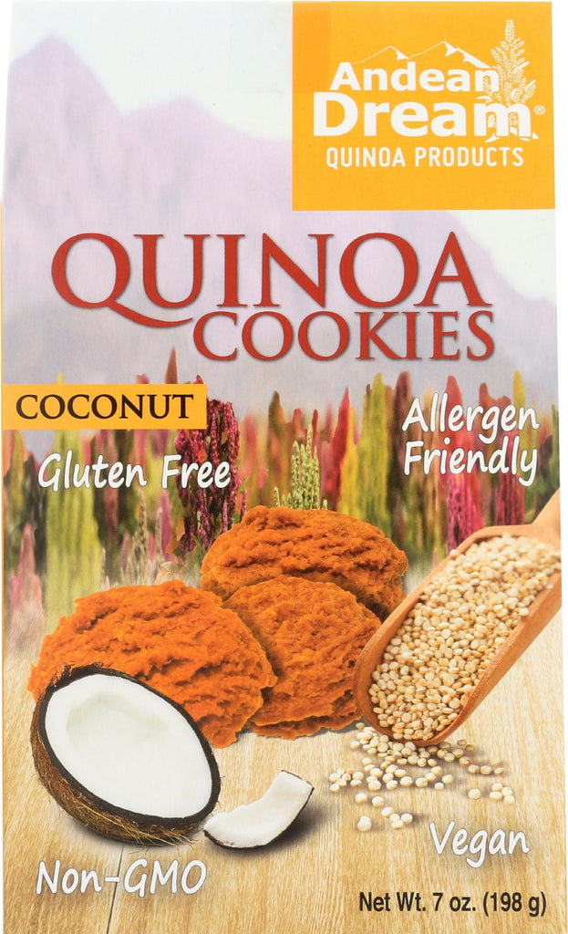 Andean Dream Gluten Free Quinoa Cookies Coconut - Case Of 6 - 7 Oz.