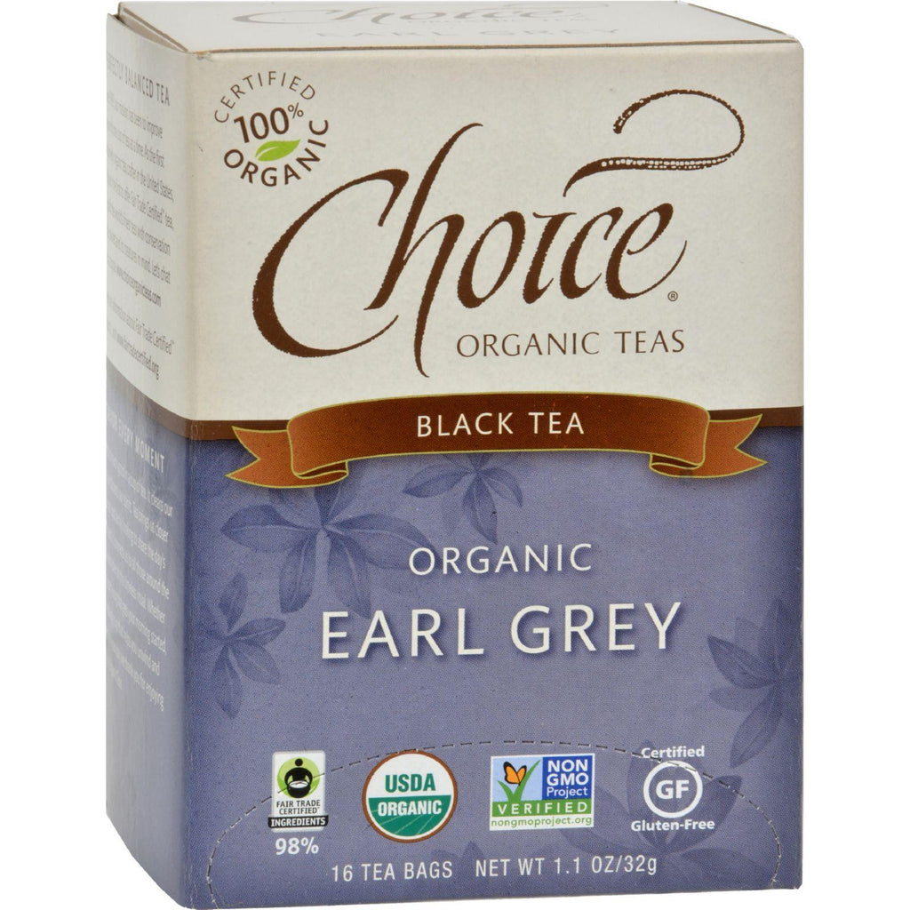 Choice Organic Teas - Earl Grey Tea - 16 Bags - Case Of 6